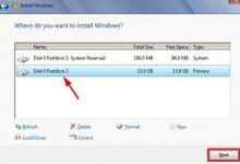 انتخاب فرمت و نصب ویندوز