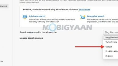 حالا موتور جستجو را به گوگل تغییر دهید
