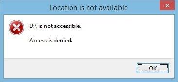 hard drive access denied