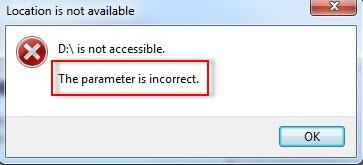 parameter-is-incorrect