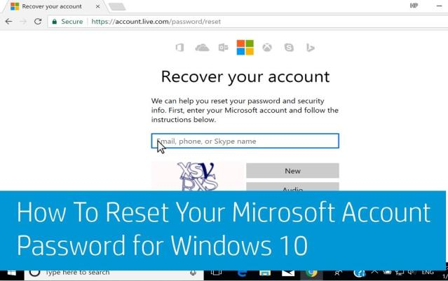 reset microsoft account password for laptop when you forgot it