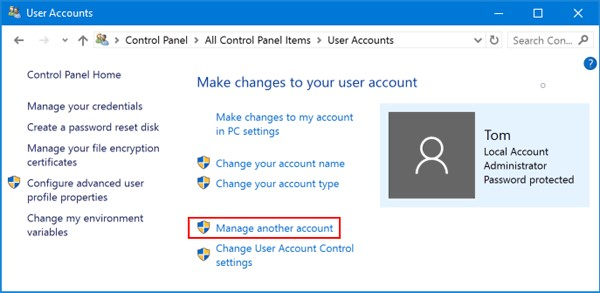 reset windows laptop password using super admin