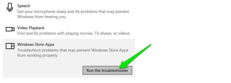 Run Troubleshooter in Windows 10