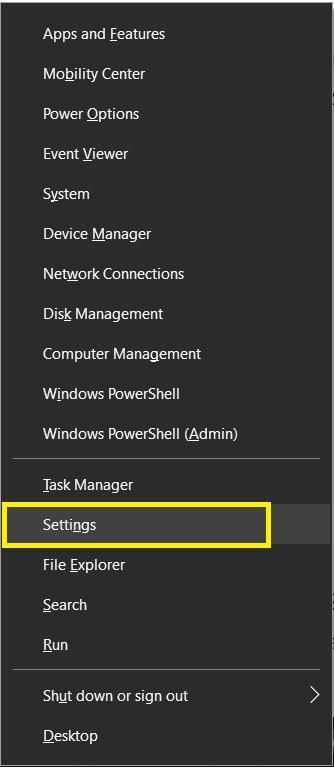 Settings Windows 10 Activate