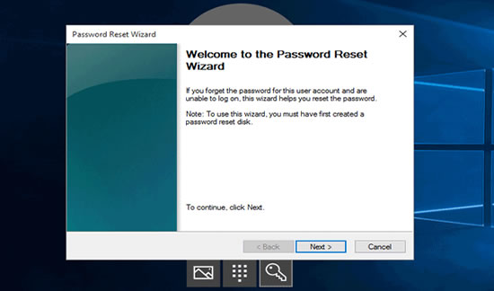 windows 10 laptop password reset disc
