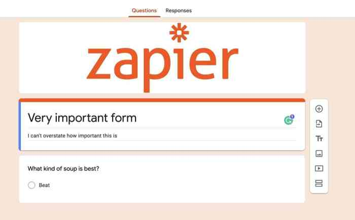 Logo in a header image on Google Forms