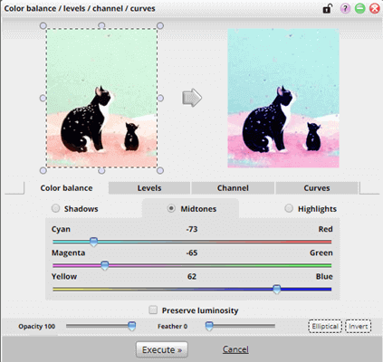 Phixr can be used to change the color tone of the entire picture or you can also change the color of a particular part of an image.