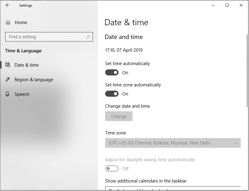 Trysetting automatic time and time zone | Fix Windows 10 Clock Time Wrong