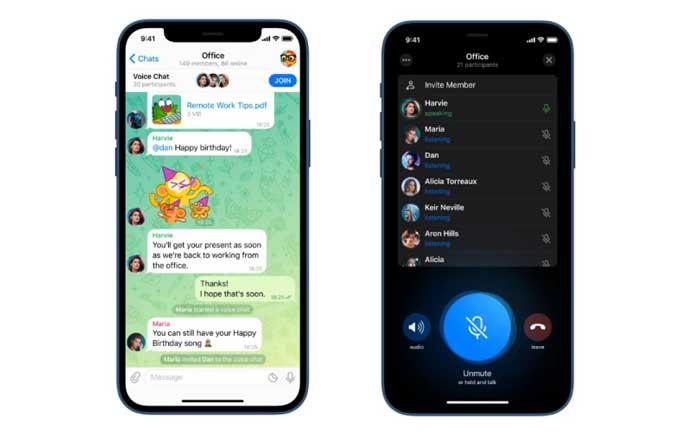 چت صوتی تلگرام