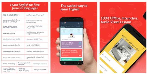 اپلیکیشن Hello English طراحی شده توسط CultureAlley