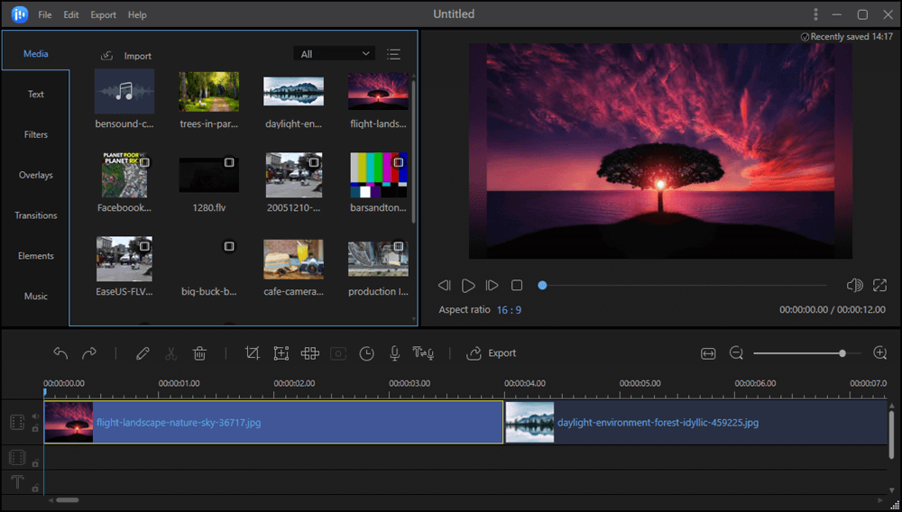 Add images to EaseUS Video Editor