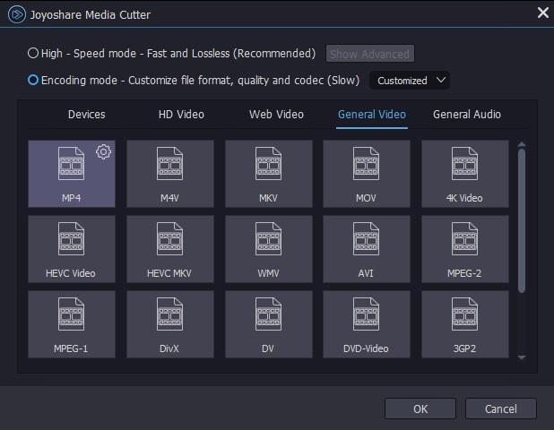 choose encoding mode