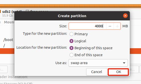 Create Swap mount point Ubuntu