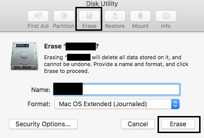 Format SD card on Mac