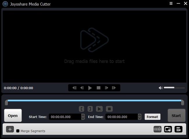 import video to joyoshare video cutter