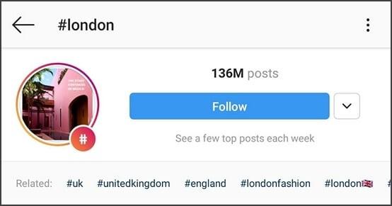 #london (posts over 131 million)