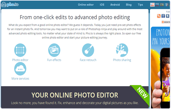 Pho.to online photo editing website