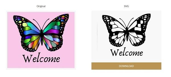 SVGCreator online JPG to SVG conversion software comparison picture