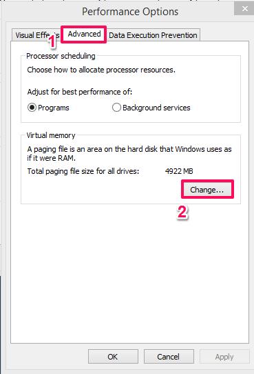 use hard disk as RAM in Windows