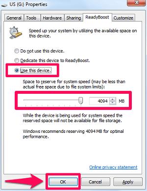 use pen drive as RAM