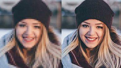 افزایش کیفیت عکس قبل و بعد