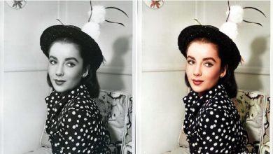 قبل و بعد از رنگی کردن عکس سیاه و سفید
